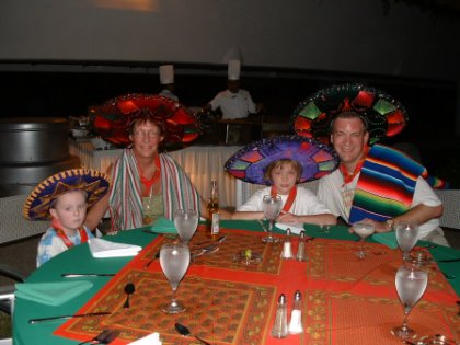 Family at the Mexican Fiesta!
